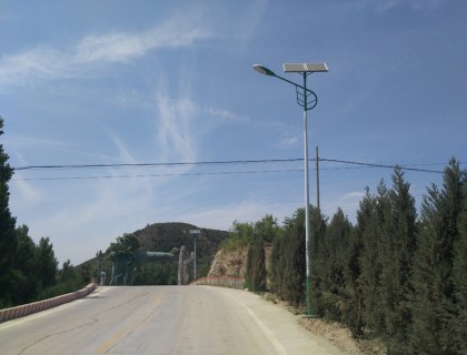 白山新农村太阳能路灯亮化工程